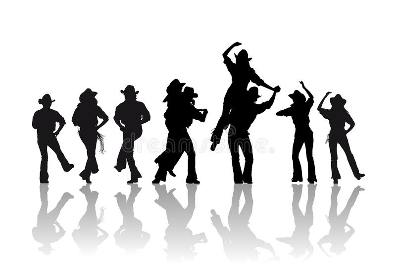 kowbojski taniec royalty ilustracja