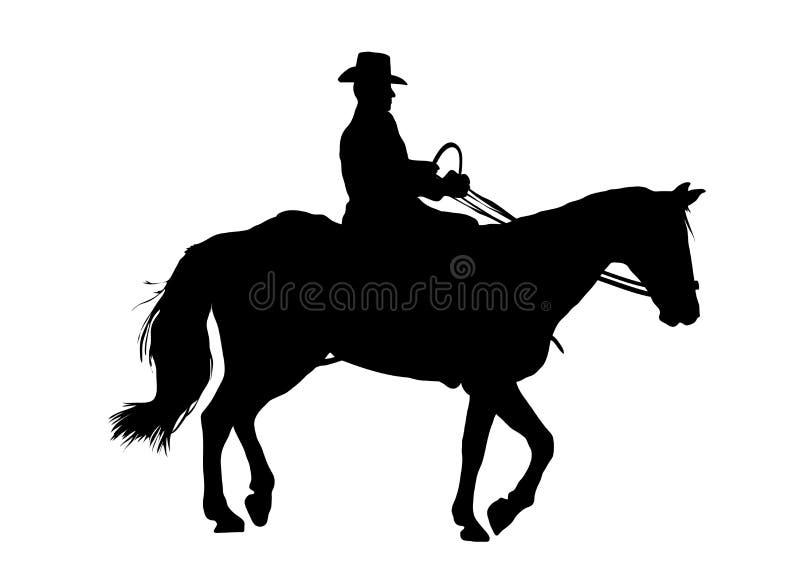 kowboju. royalty ilustracja