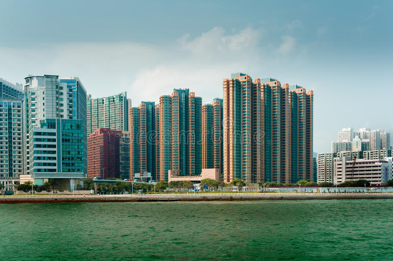 Kowloon Apartment Buildings Editorial Stock Image