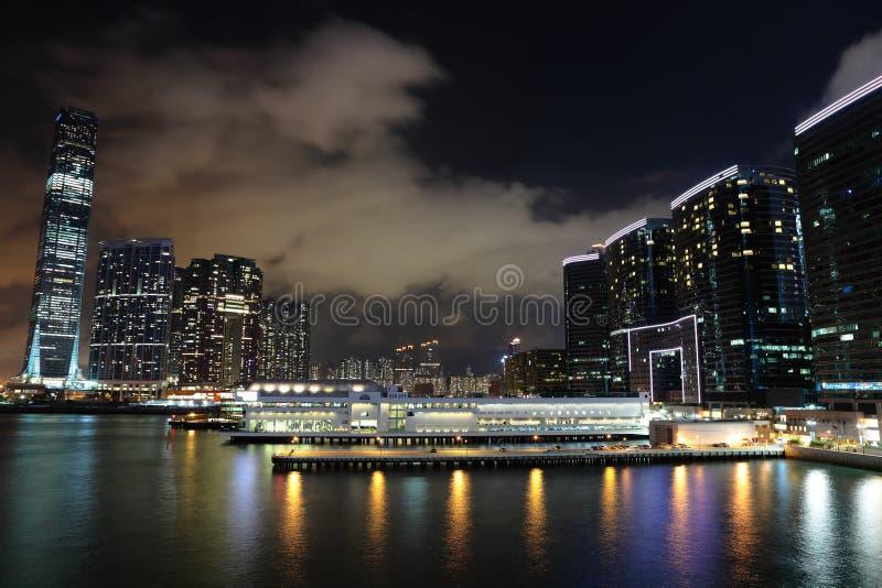 Kowloon bij nacht stock afbeeldingen