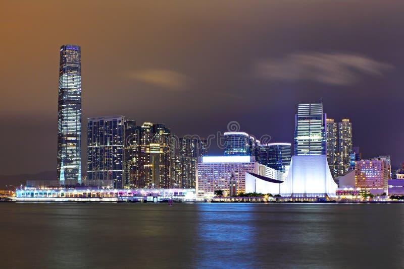 Kowloon bij nacht royalty-vrije stock afbeeldingen