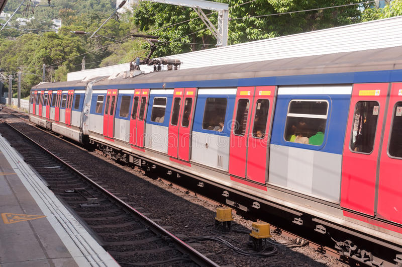 Kowloon-Canton Railway line, Hong Kong stock photo