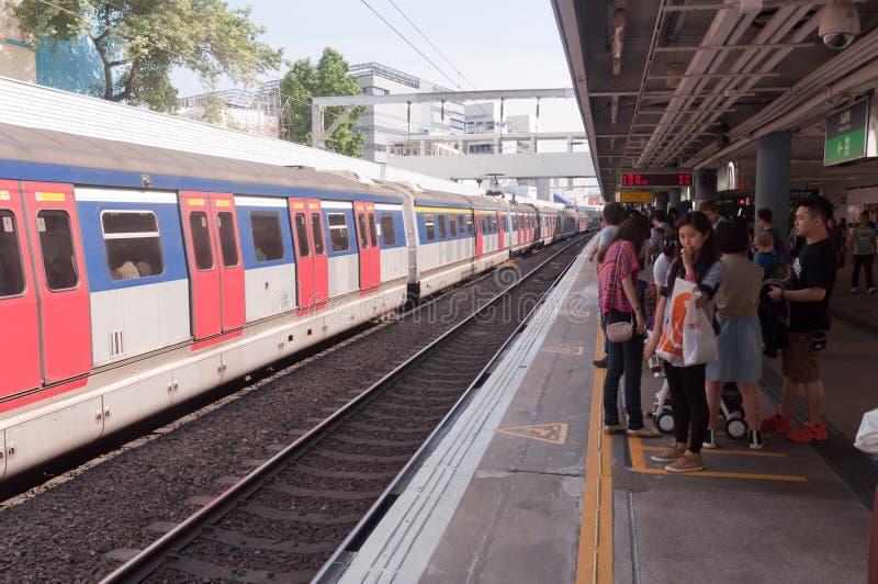 Kowloon-Canton Railway line, Hong Kong royalty free stock images