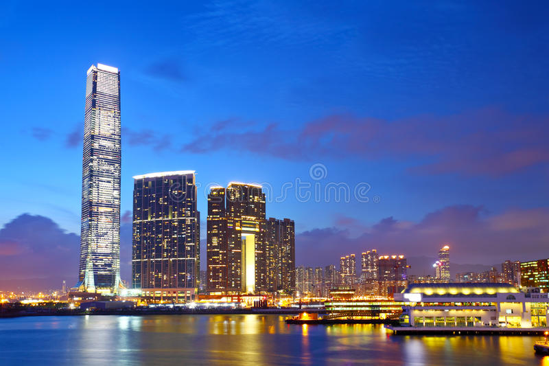 Kowloon du centre en Hong Kong images stock