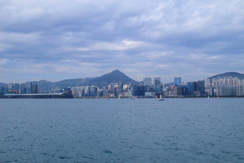 Kowloon för villebrådfjärdsikt sida arkivbild