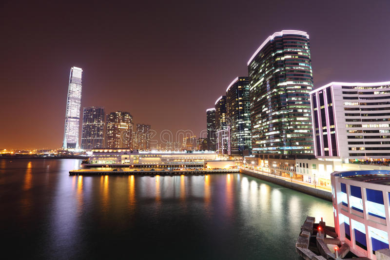 Download Kowloon at night stock photo. Image of colorful, harbour - 24085228