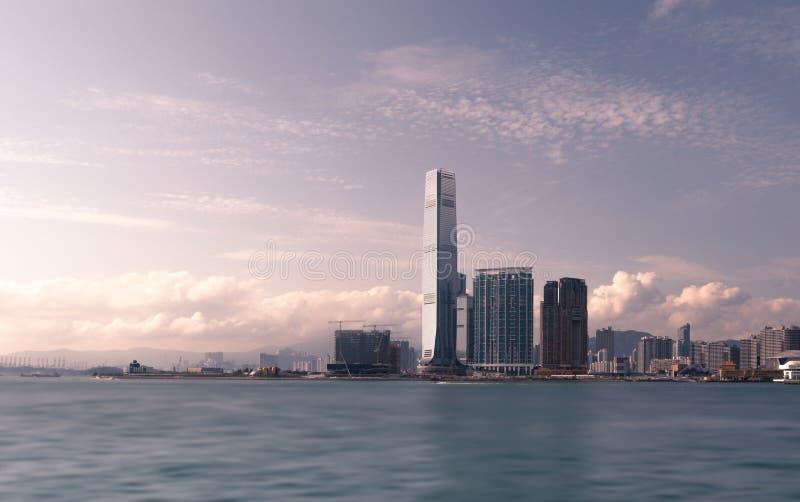 Kowloon occidental, centre international Hong Kong de commerce photos libres de droits