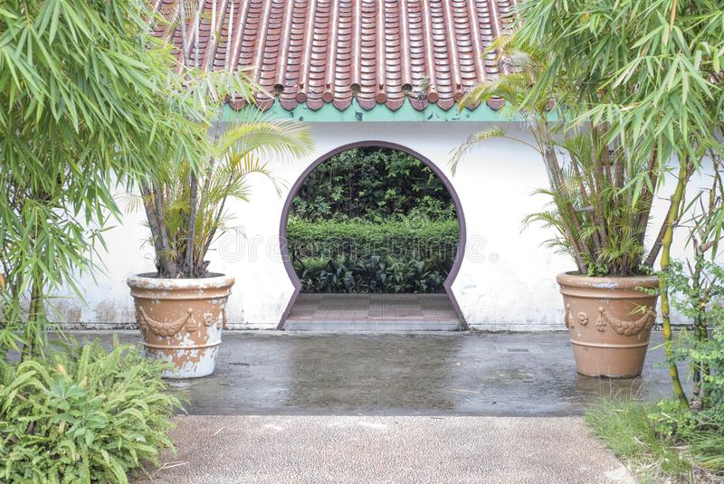 Kowloon Park`s side entrance in Hong Kong. royalty free stock photos