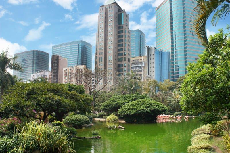 Kowloon parkerar i Hong Kong arkivfoton