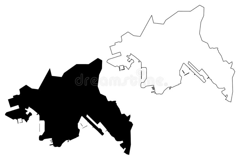 Kowloon region Hong Kong Special Administrative Region of the People`s Republic of China, Hong Kong SAR map vector illustration vector illustration