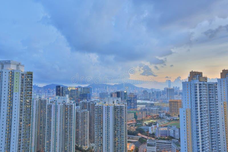 Kowloon sida i Hong Kong royaltyfria foton