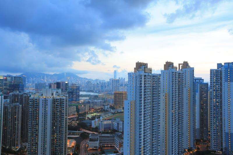 Kowloon sida i Hong Kong royaltyfri foto