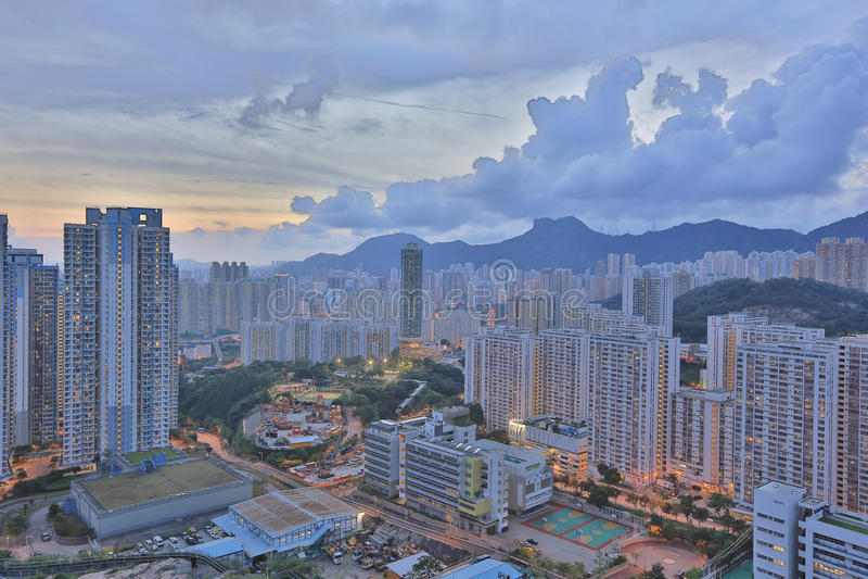 Kowloon sida i Hong Kong royaltyfri fotografi
