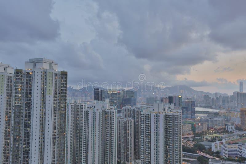 Kowloon sida i Hong Kong fotografering för bildbyråer