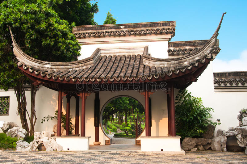 Kowloon Walled City Garden, Hong Kong. Royalty Free Stock Images