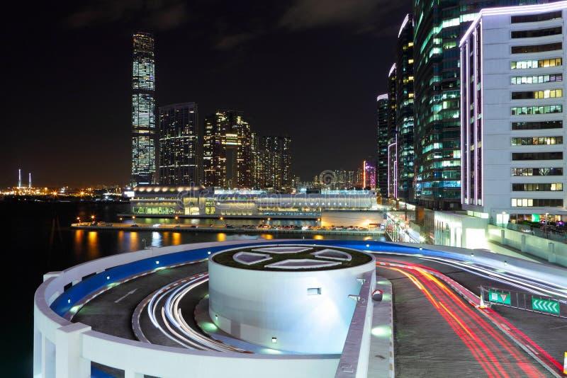 Kowloonkant in Hong Kong stock afbeelding