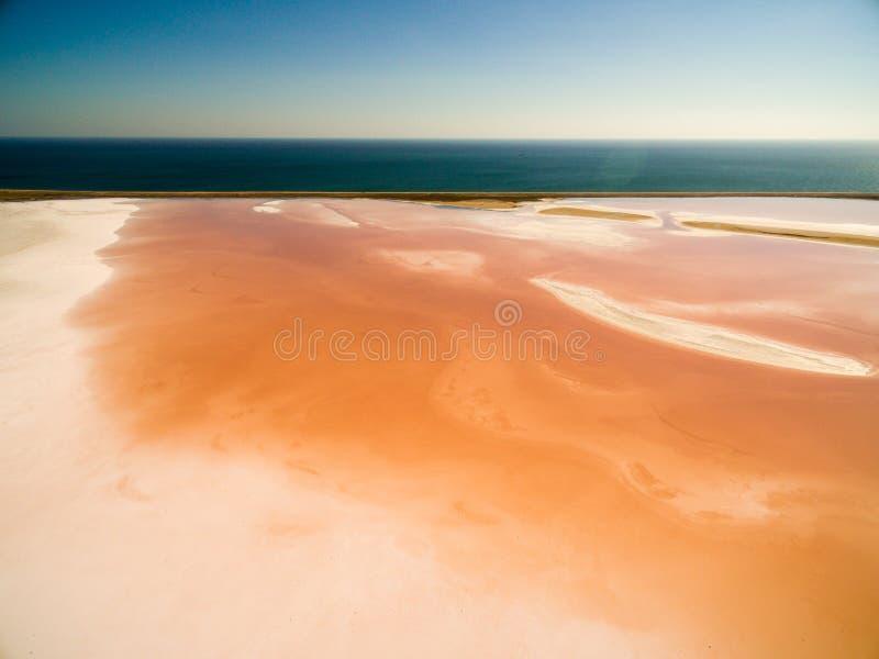Koyashskoe lago rosa di sale in Crimea immagine stock libera da diritti