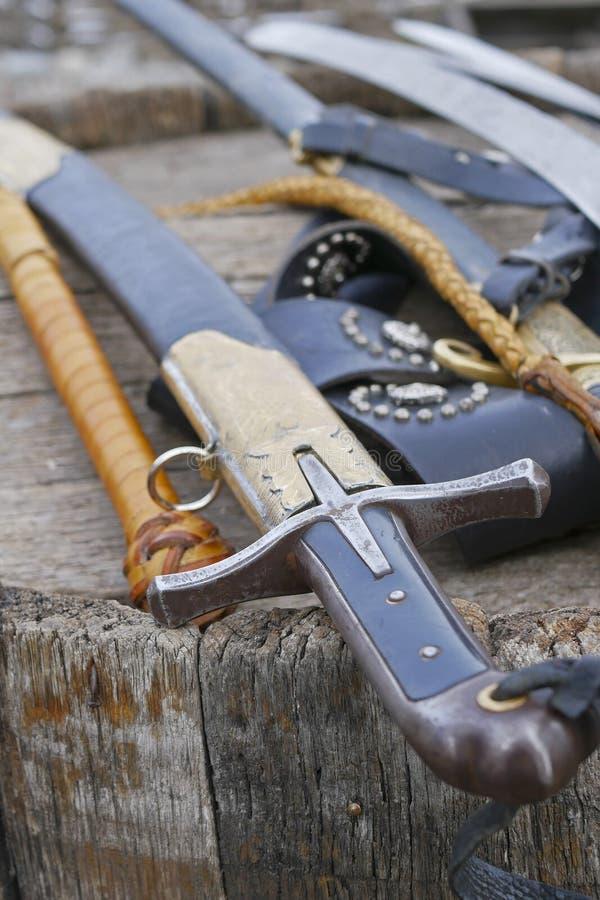 Kozackie bronie, kordziki, kordziki zdjęcia stock