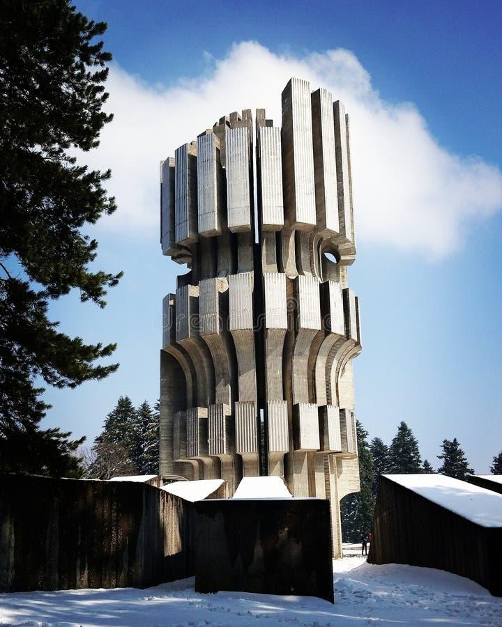 Kozara, Monument WW2 lizenzfreies stockbild