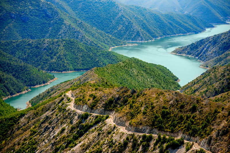 Kozjak lake in Macedonia. Beautiful mountains and Kozjak lake near Skopje in Macedonia. Macedonian landscape royalty free stock photography