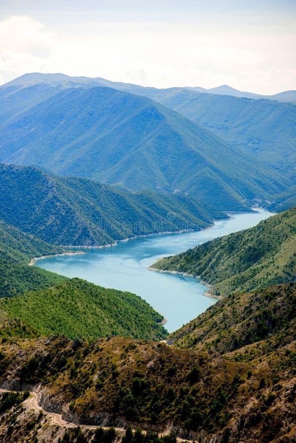 Kozjak lake in Macedonia. Beautiful mountains and Kozjak lake near Skopje in Macedonia. Macedonian landscape stock image
