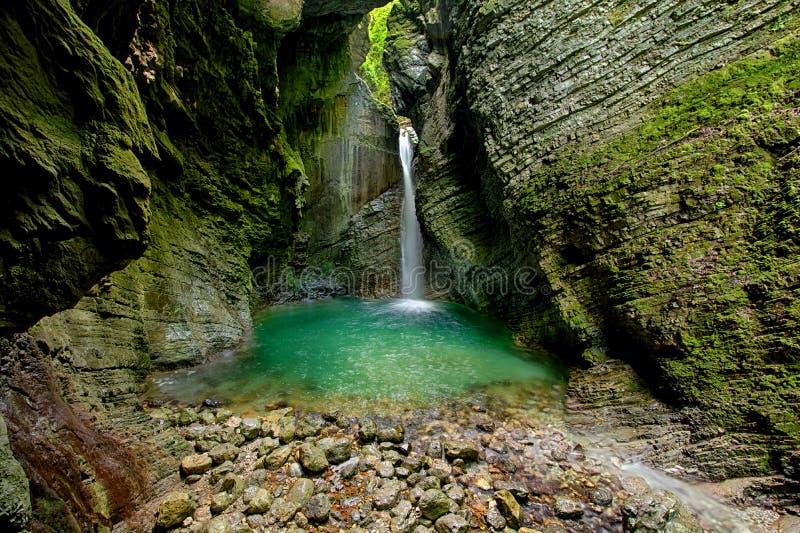 Kozjak vattenfall fotografering för bildbyråer