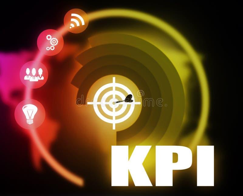 KPI概想计划图表 库存例证