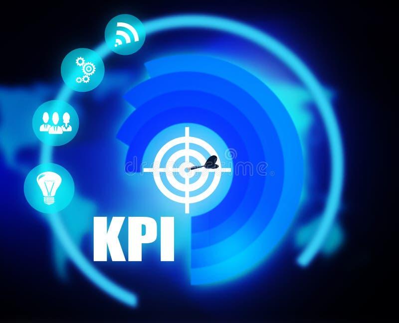 KPI概想计划图表 向量例证