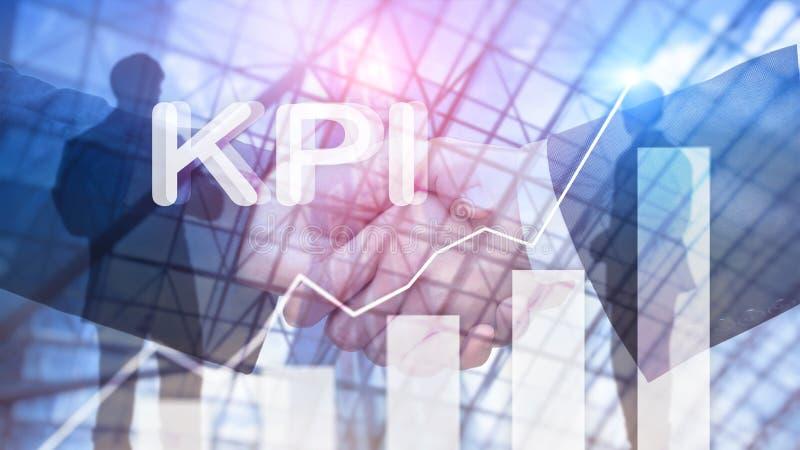 KPI -主要绩效显示 企业和技术概念 多重曝光,混合画法 财政概念 库存图片