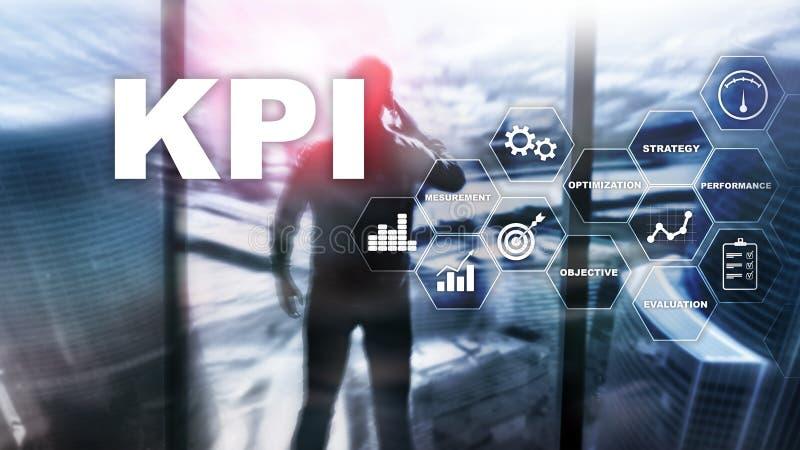 KPI - Индикатор ключевой производительности Концепция дела и технологии Множественная выдержка, мультимедиа Финансовая концепция  стоковая фотография rf