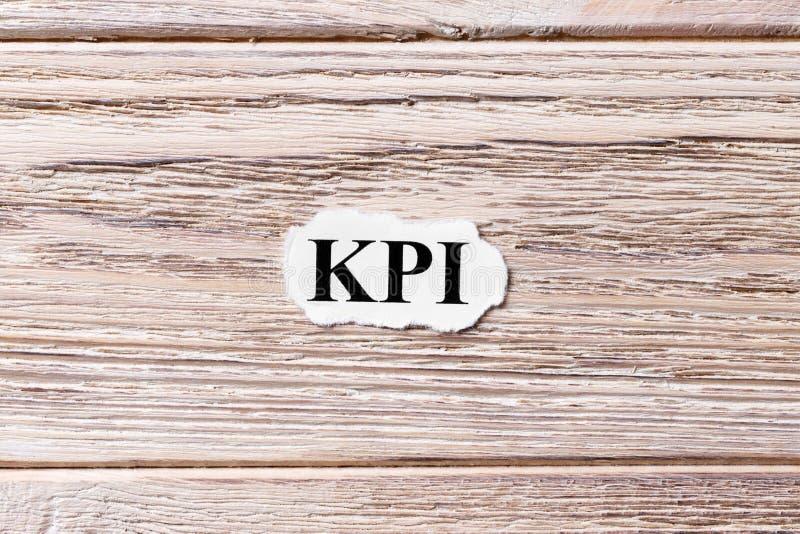 KPI -主要绩效显示词云彩,企业概念 免版税库存图片