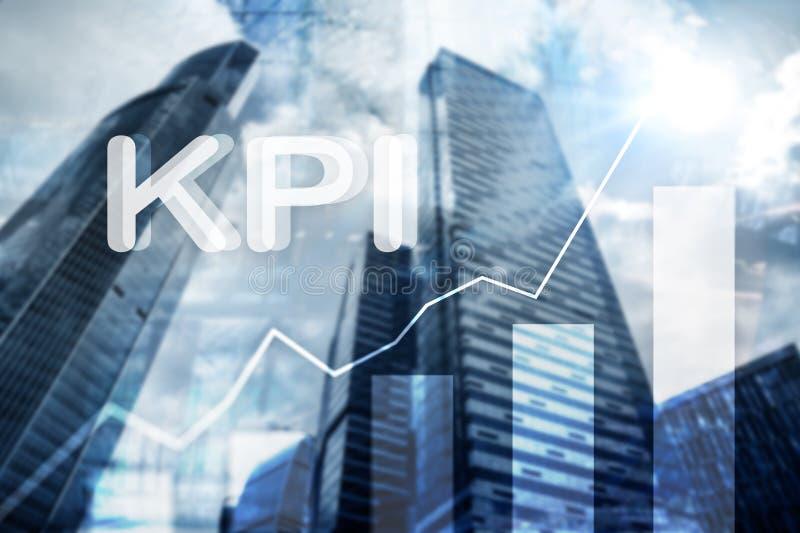 KPI -主要绩效显示 企业和技术概念 多重曝光,混合画法 财政概念 免版税库存图片