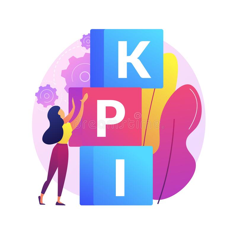 Free KPI Abstract Concept Vector Illustration. Royalty Free Stock Photos - 194532668