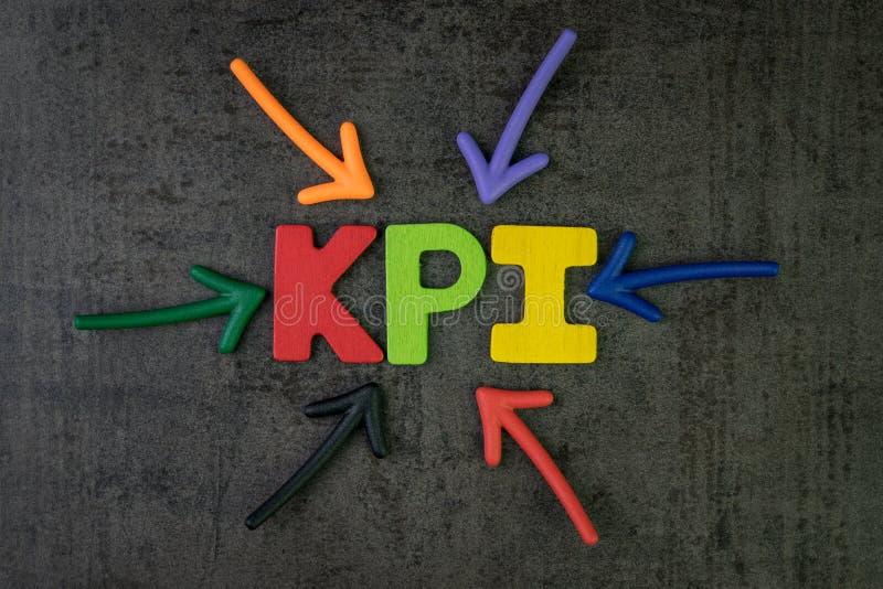 KPI, blanco y medida co del negocio del indicador del punto clave de la meta imagenes de archivo