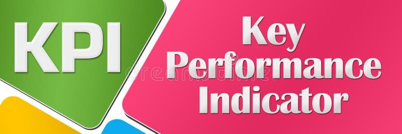 KPI - Fyrkanter för indikator för nyckel- kapacitet färgrika rundade stock illustrationer