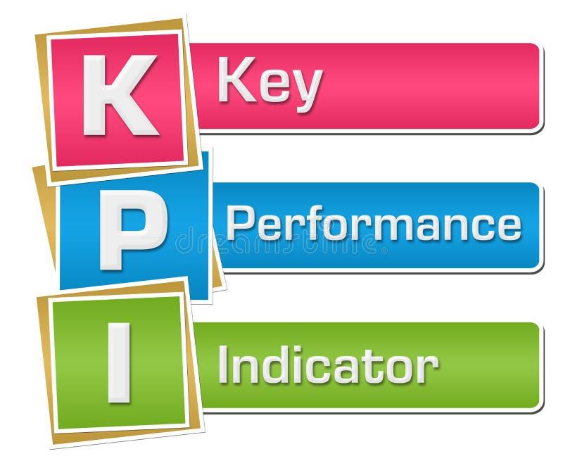 KPI - Fyrkanter för indikator för nyckel- kapacitet vertikala färgrika vektor illustrationer