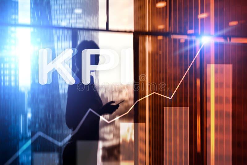 KPI - Graphique d'indicateur de jeu clé sur le fond brouillé illustration de vecteur