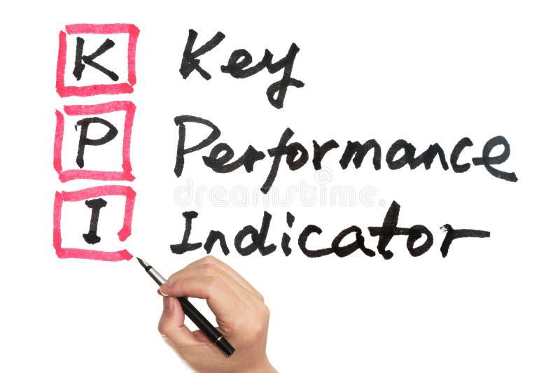 KPI - Indicador de rendimiento clave foto de archivo