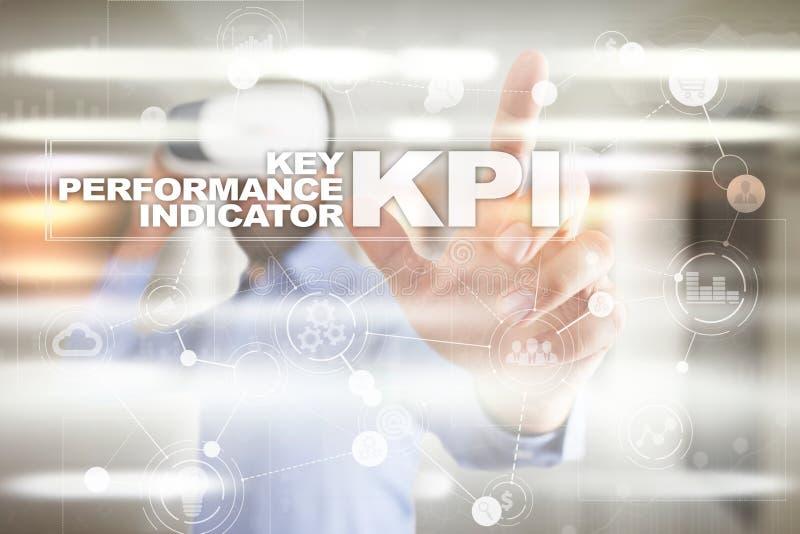 Kpi Indikator för nyckel- kapacitet Affärs- och teknologibegrepp stock illustrationer