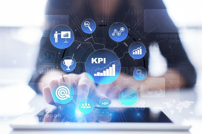 Kpi Indikator för nyckel- kapacitet Affärs- och teknologibegrepp vektor illustrationer