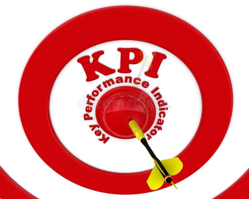 KPI (indikatorer för nyckel- kapacitet) Rött mål med inskriften vektor illustrationer