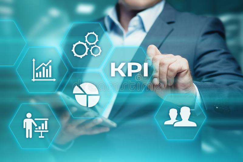 KPI Key Performance Indicator Business Internet Technology Concept royalty free stock photo