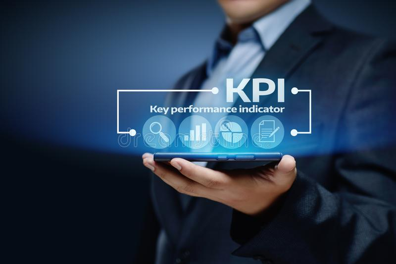 KPI Key Performance Indicator Business Internet Technology Concept royalty free stock photography