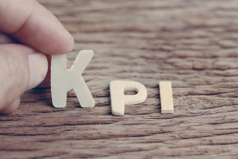KPI, Key Performance Indicator business target and success of ma royalty free stock image