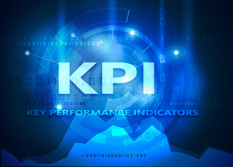 Kpi - key performance indicator vector illustration