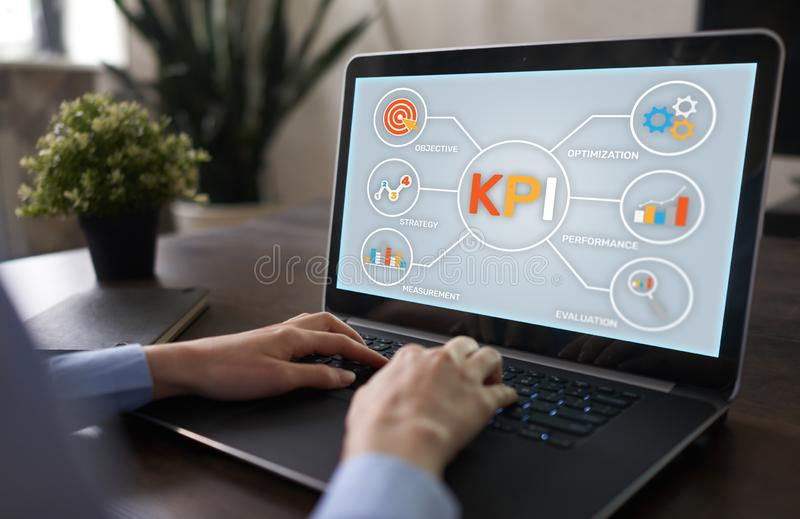 KPI Key Performance Indicator. Industrial Manufacturing Business Marketing Strategy Concept. stock images