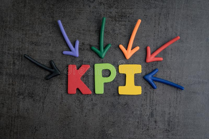 KPI, Key Point Indicator business target and goal management con royalty free stock photography