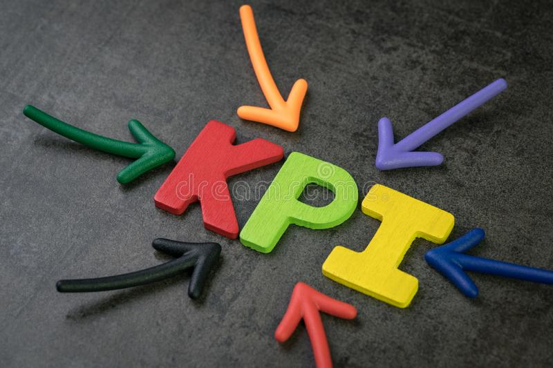 KPI, Key Point Indicator business target and goal measurement co royalty free stock photography