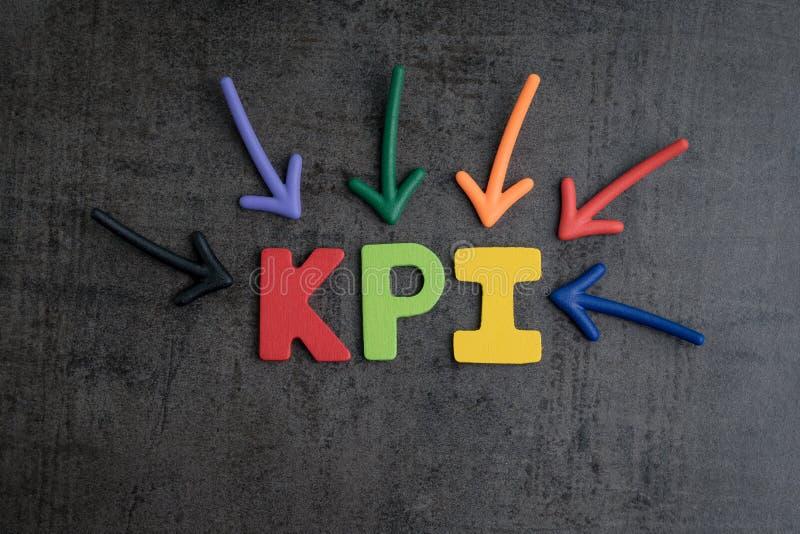 KPI, la cible d'affaires d'indicateur de point clé et la gestion de but escroquent photographie stock libre de droits