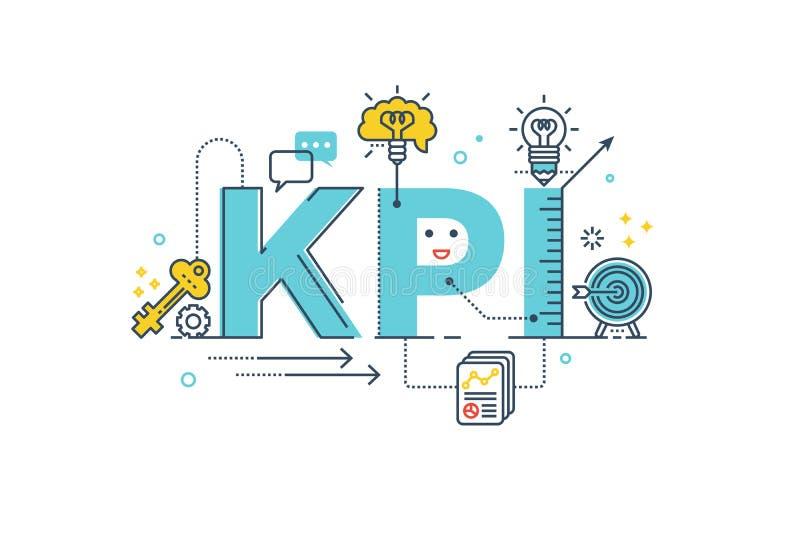 KPI: Ord för indikator för nyckel- kapacitet royaltyfri illustrationer